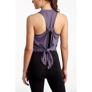 DYI tie back purple tank.  Available at Studio 128.