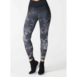 NUX reversible flora legging available at studio 128.