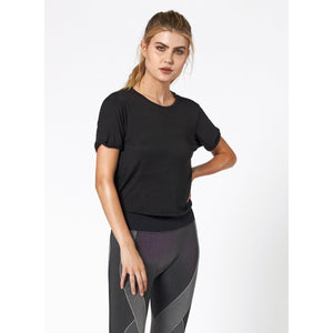 The perfect black workout T from Studio 128.
