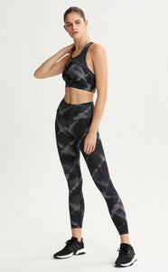 Black Tie Dye Leggings from Varley available at Studio 128.