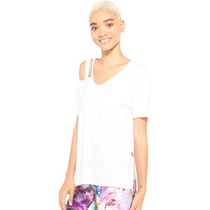 Stylish white workout tops from Studio 128.