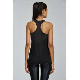 Black tank with mesh back detail from Noli Yoga available at studio 128.