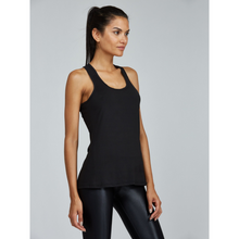 Load image into Gallery viewer, The perfect black workout tank from studio 128.