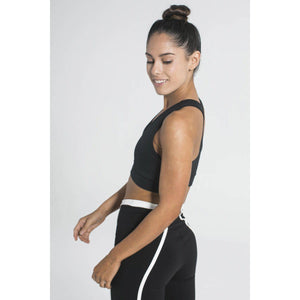 Center Fold Black Sports Bra