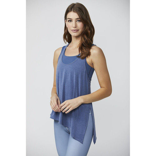 DYI Assymetrical Chambray Tank.  Shop Studio 128 for the best in flow tanks.