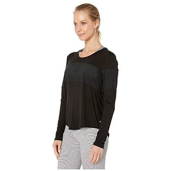 Black pullover with mesh detail from Body Language.