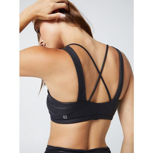 Chic black sports bras from Body Language at Studio 128.