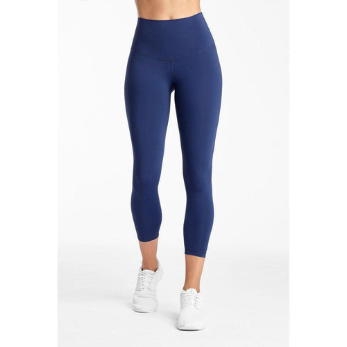 The perfect navy crop legging available at Studio 128.