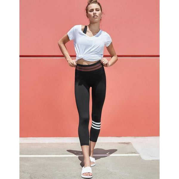 Fashionable black leggings with a twist from Studio 128.