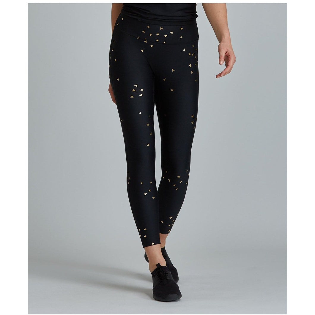 Gold Foil leggings from Prism Sport available at Studio 128.