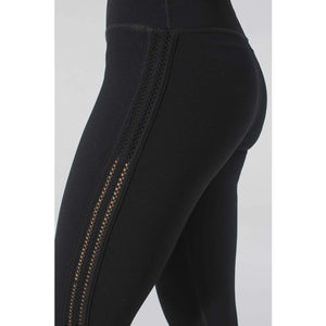 Black leggings with fun details from Studio 128.
