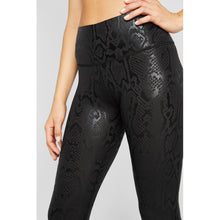 Load image into Gallery viewer, Black snake skin leggings from studio 128.