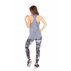 Terez racerback tank in grey available at Studio 128.