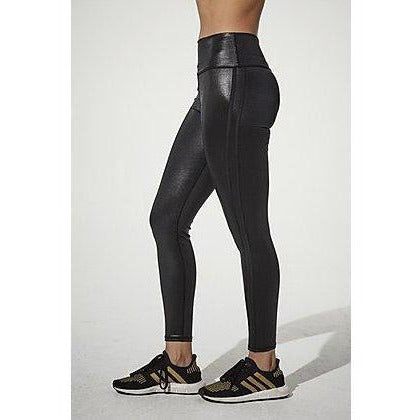 Shiny black leggings from 925 Fit available online at Studio 128.