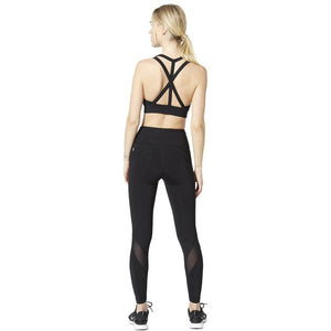 Black with mesh insert leggings from Vimmia at Studio 128.