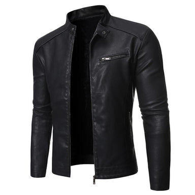 Men's Biker Outerwear Leather Jacket