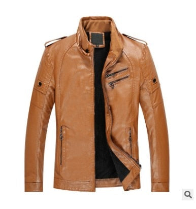 Men Suede Leather Jacket