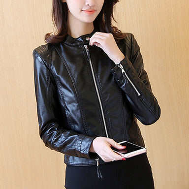 Casual PU Leather Jacket