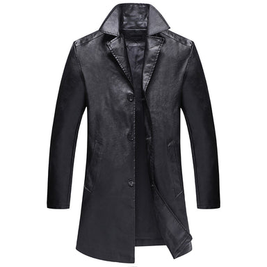 Windproof Thick Leather Jacket