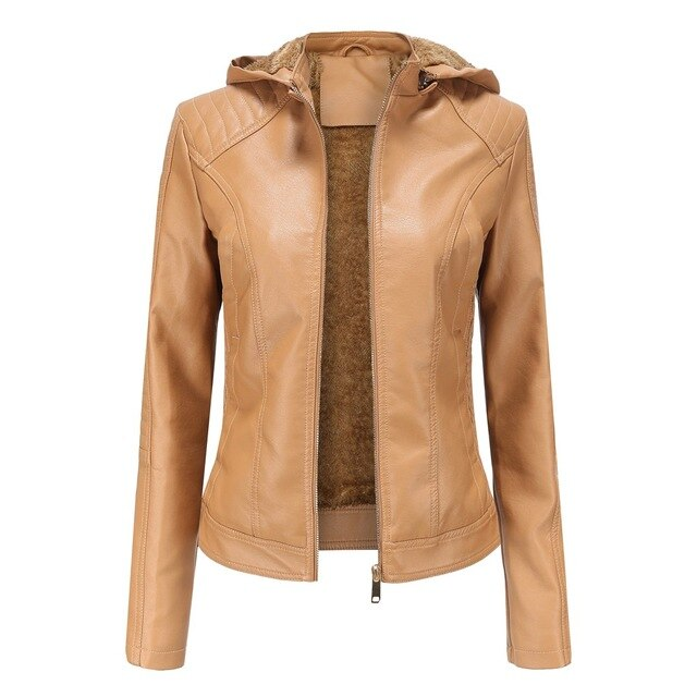 Women's PU Leather Jacket