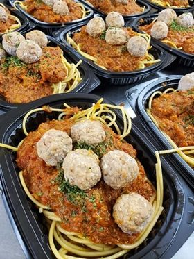 FROZEN Spaghetti and Meatballs