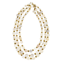 Load image into Gallery viewer, OSTRICH EGGSHELL NECKLACE, TRIPLE STRAND