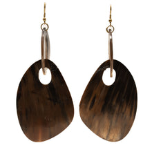 Load image into Gallery viewer, HORN ABSTRACT SHAPE DROP EARRINGS