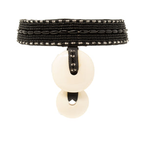 EVERLYN BEADED CHOKER, BLACK