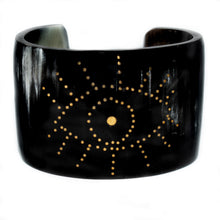 Load image into Gallery viewer, DARK HORN CUFF BRACELET, GOLD EYE