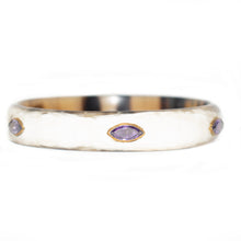 Load image into Gallery viewer, MZAZI LIGHT HORN BANGLE, AMETHYST STONE