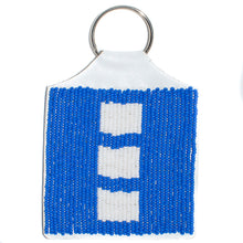 Load image into Gallery viewer, BEADED KEYRING, FLAG DESIGN