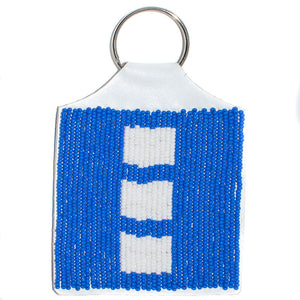 BEADED KEYRING, FLAG DESIGN