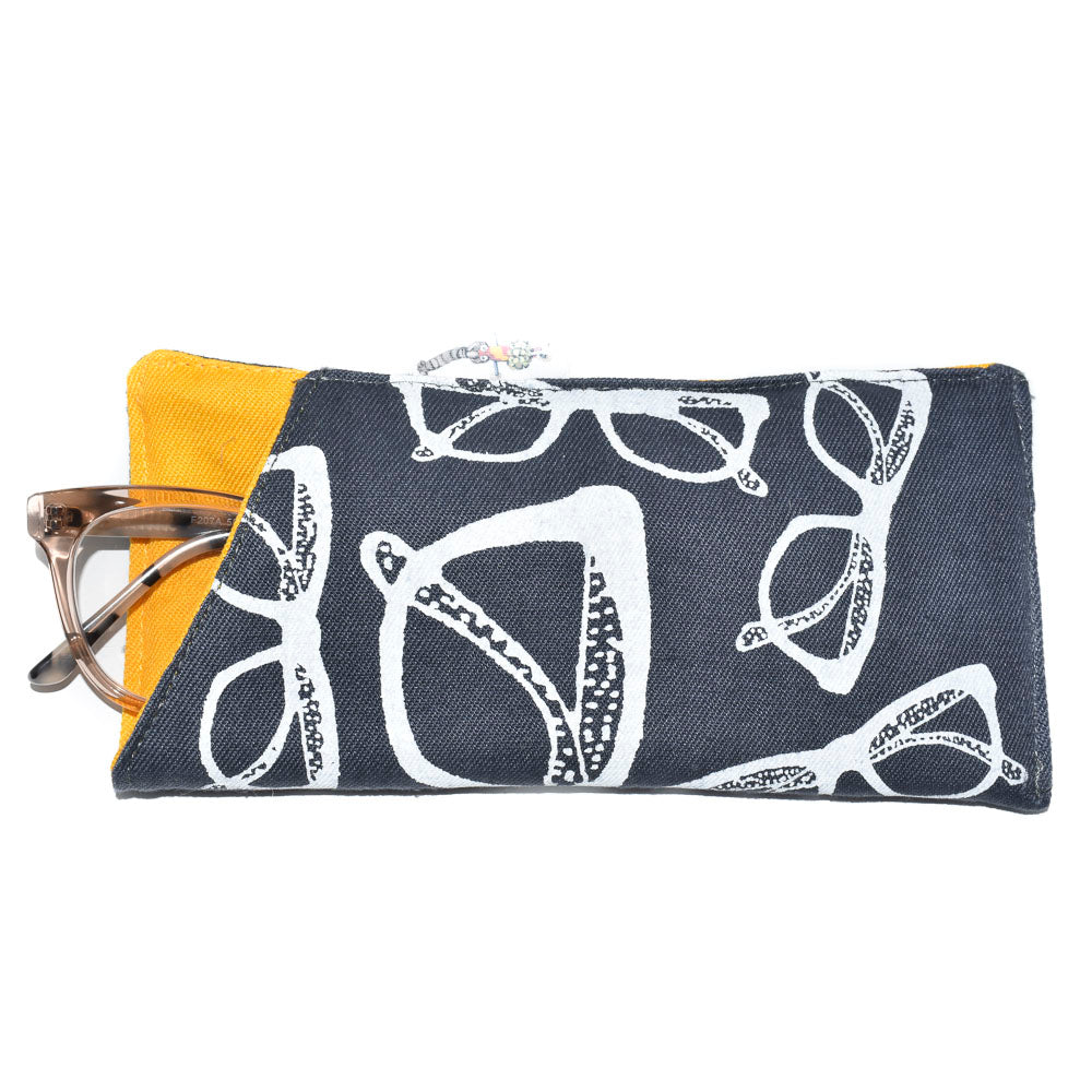 EYEGLASS CASE, BLUE GLASSES