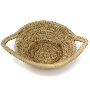 PETITE SISAL & BANANA LEAF BASKET WITH HANDLES
