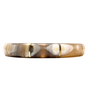LIGHT HORN BANGLE, GOLD BARS