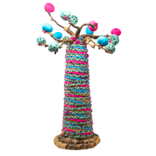 Load image into Gallery viewer, COLORFUL BAOBAB TREE SCULPTURE