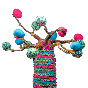 COLORFUL BAOBAB TREE SCULPTURE
