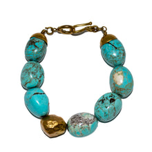 Load image into Gallery viewer, LARGE TURQUOISE STONE BRACELET