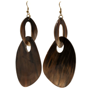 HORN ABSTRACT SHAPE DROP EARRINGS