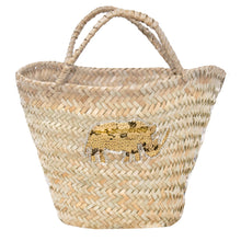 Load image into Gallery viewer, KIFARU STRAW TOTE, SEQUIN RHINO MOTIF