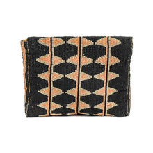 Load image into Gallery viewer, MAASAI BEADED CLUTCH, BLACK & PEACH