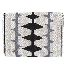 Load image into Gallery viewer, MAASAI BEADED CLUTCH, BLACK & WHITE