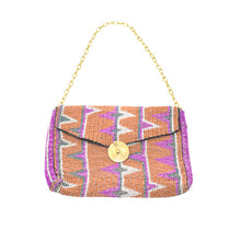 Load image into Gallery viewer, MAASAI BEADED CLUTCH, ORANGE & PINK