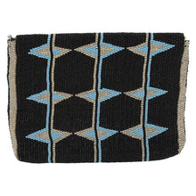 Load image into Gallery viewer, MAASAI BEADED CLUTCH, BLACK & TEAL