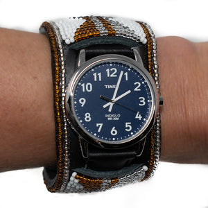 LEATHER BEADED WATCH
