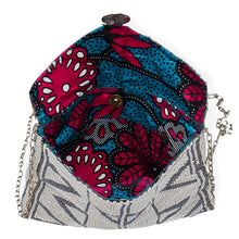 Load image into Gallery viewer, MAASAI BEADED CLUTCH, WHITE & SILVER