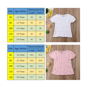 Kids Baby Girl Cotton and Linen Short Sleeve