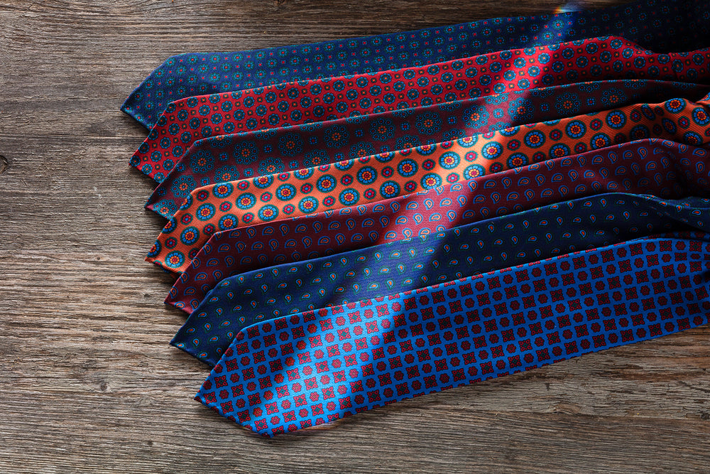 Ancient Madder Silk Ties Brunati Como