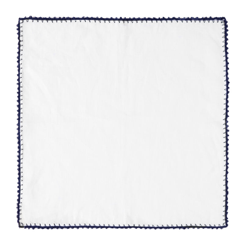 Linen Pocket Square - Navy Pippioli