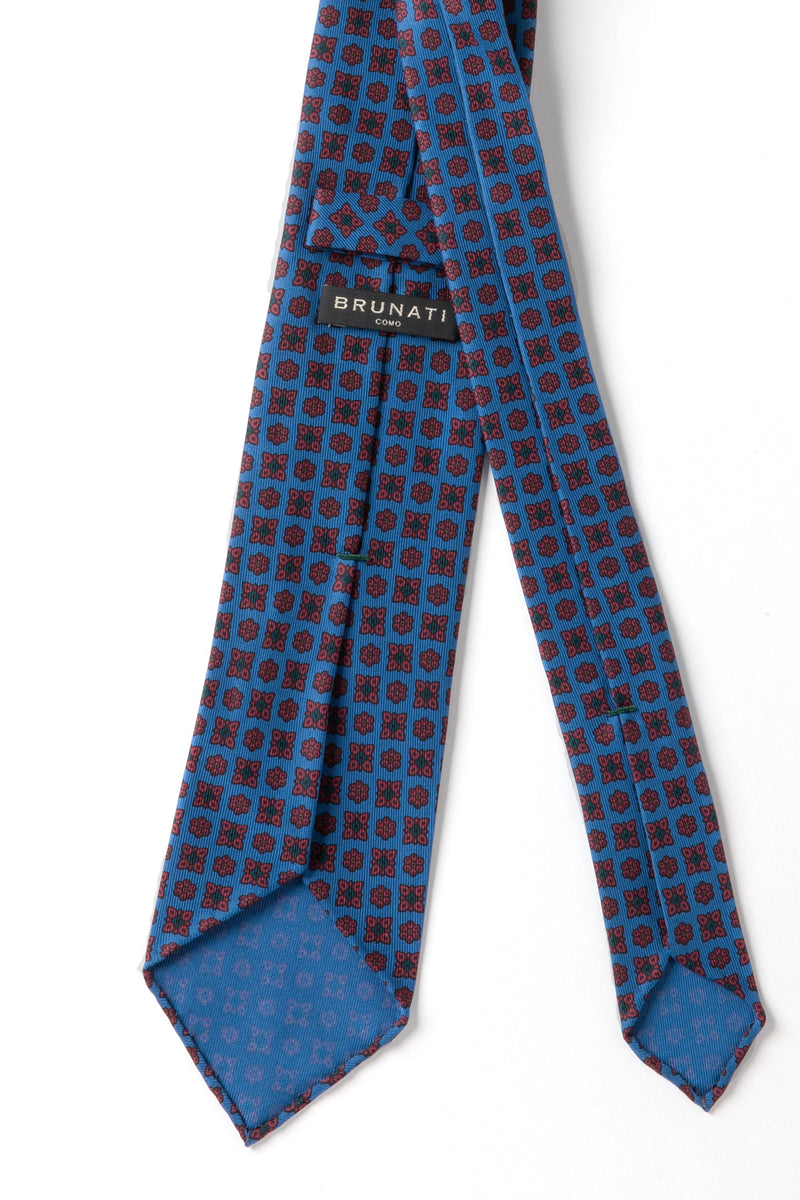 Ancient Madder Silk Tie Blue Brunati Como